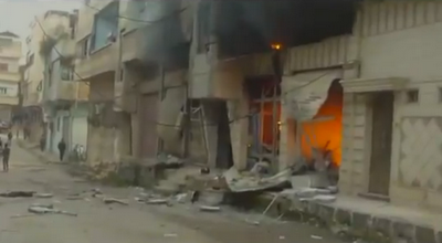 SÍRIA: NA SEQUÊNCIA DO MASSACRE DE KHALIDYA, BOMBARDEIA BABA AMR e IDLIB.
