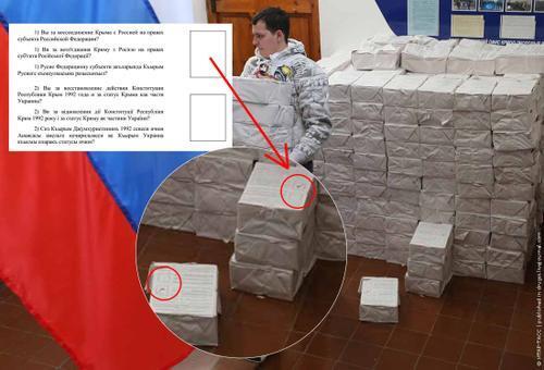 Cédulas de votação já marcadas à favor de integração à federação russa - 13-03-2014