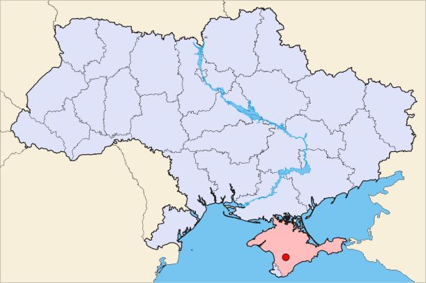 Simferopol-Ukraine-Map
