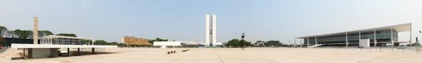 Panoramic view of the Praça dos Três Poderes in Brasilia
